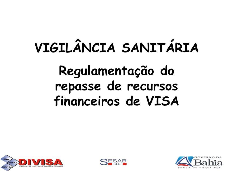 Regulamentação do repasse de recursos financeiros de VISA