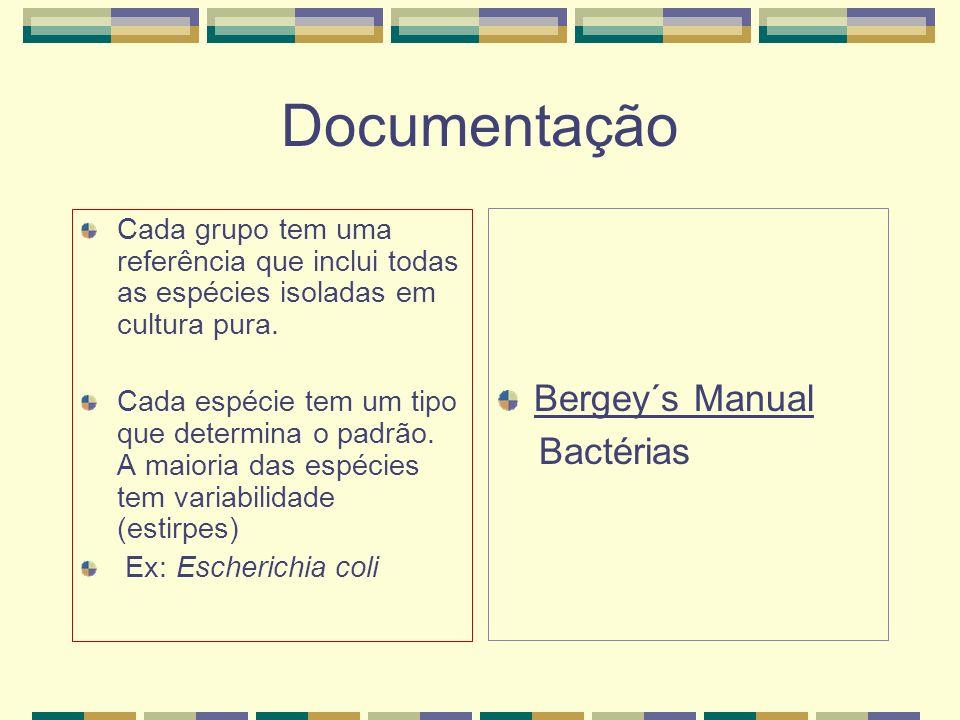 Documentação Bergey´s Manual Bactérias