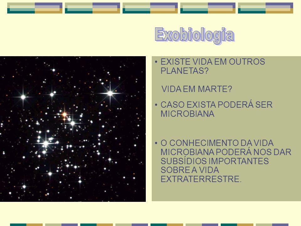 Exobiologia EXISTE VIDA EM OUTROS PLANETAS VIDA EM MARTE