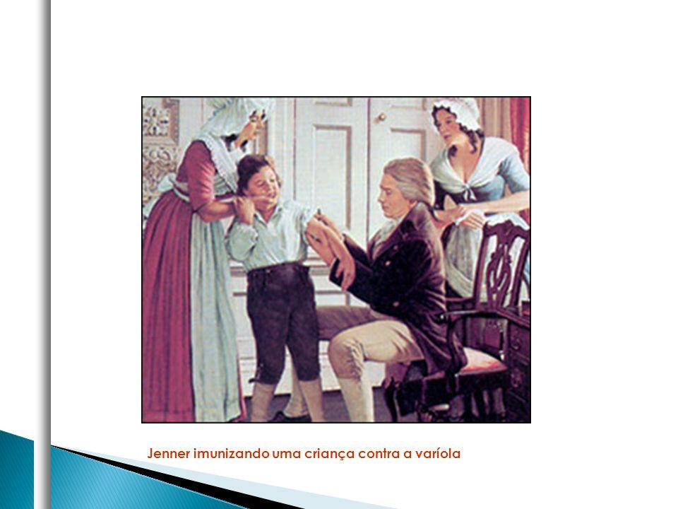 Jenner imunizando uma criança contra a varíola