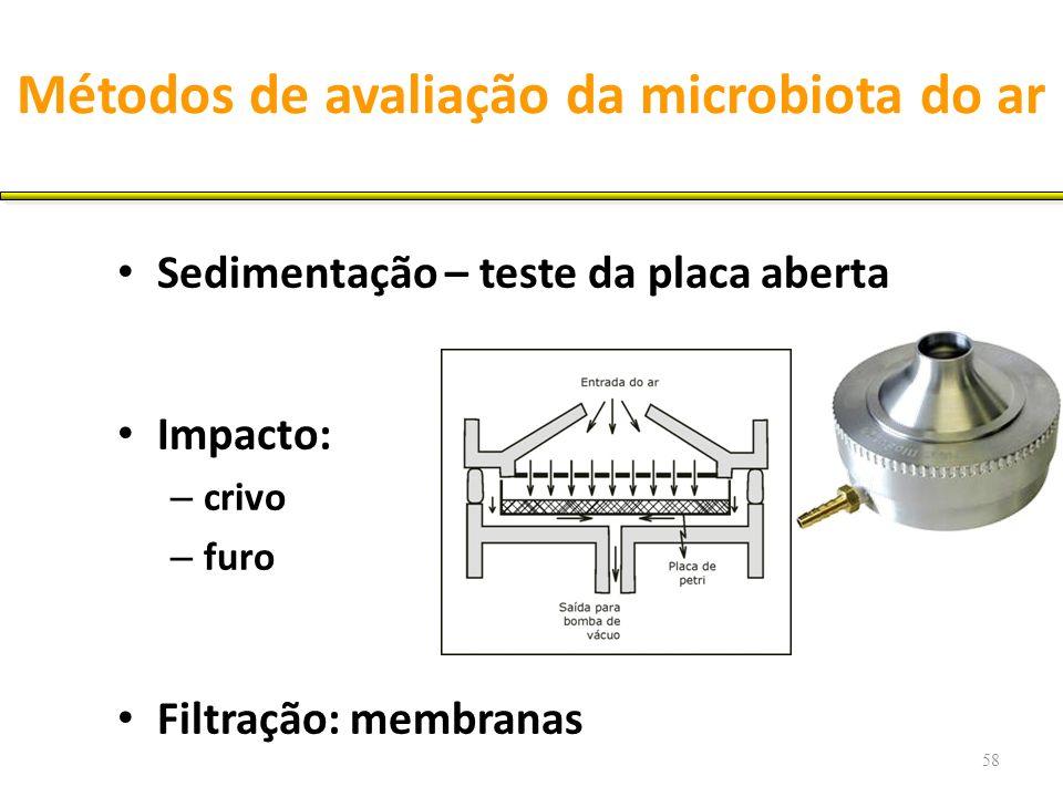 Métodos de avaliação da microbiota do ar