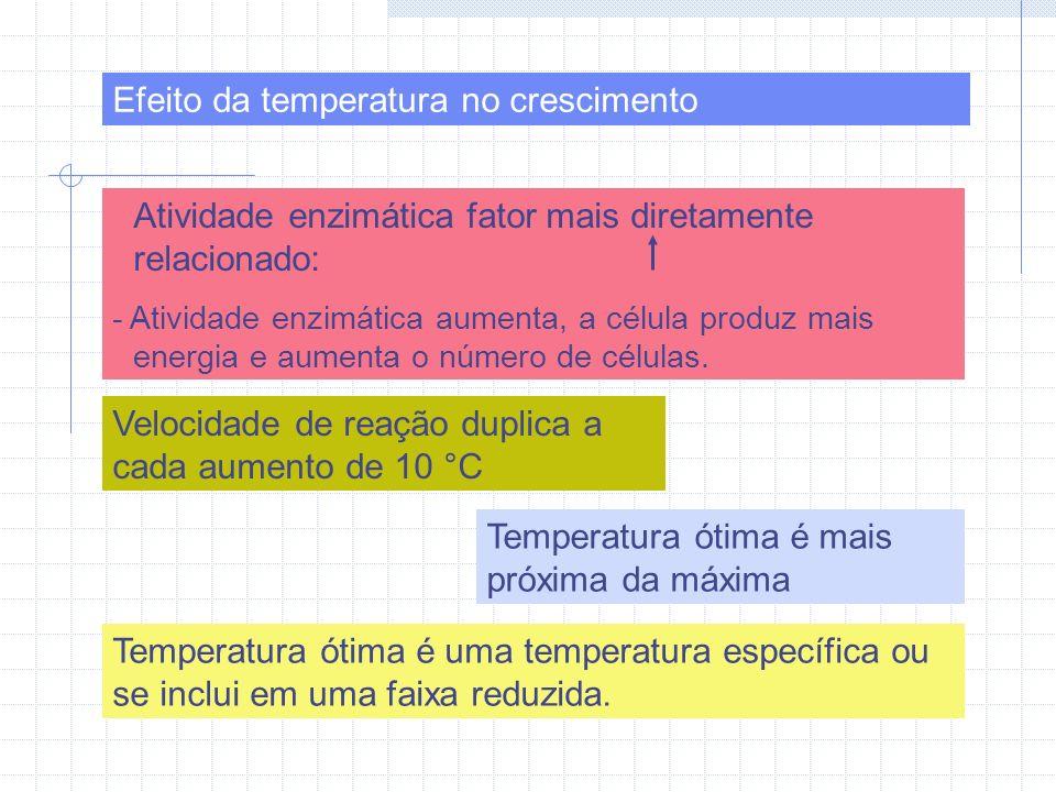 Efeito da temperatura no crescimento