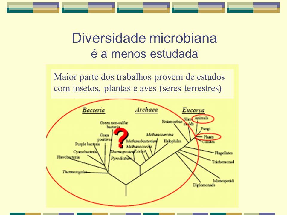 Diversidade microbiana é a menos estudada