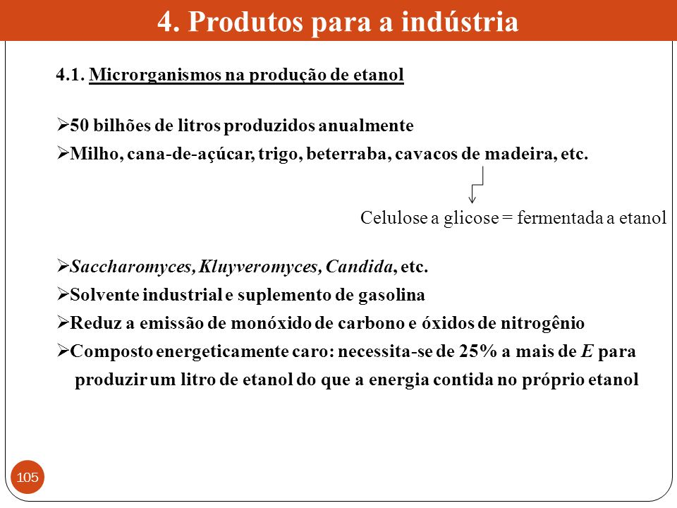 4. Produtos para a indústria