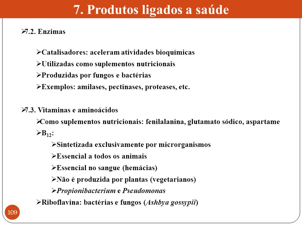 7. Produtos ligados a saúde