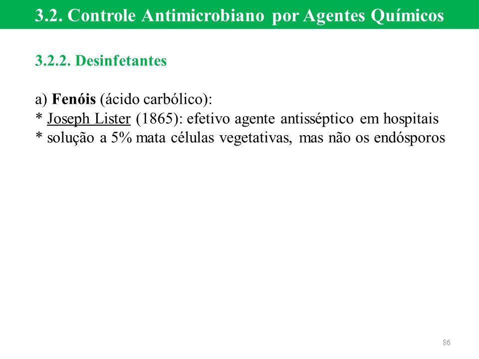 3.2. Controle Antimicrobiano por Agentes Químicos