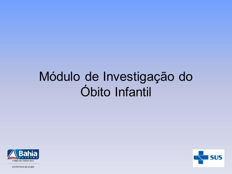 Módulo de Investigação do Óbito Infantil
