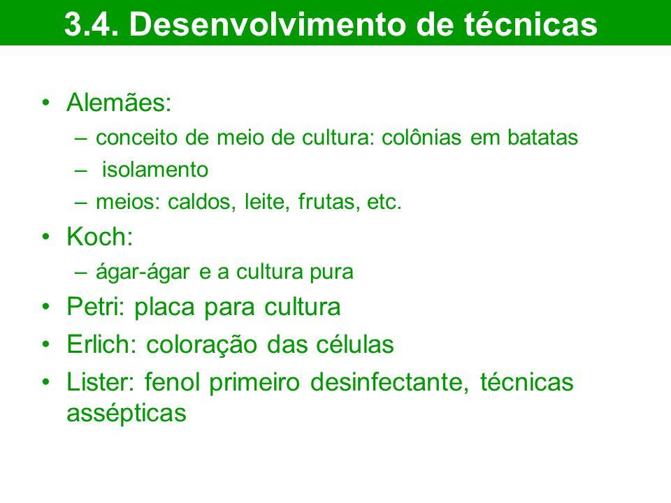 3.4. Desenvolvimento de técnicas