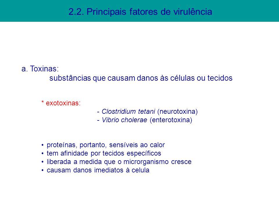 2.2. Principais fatores de virulência