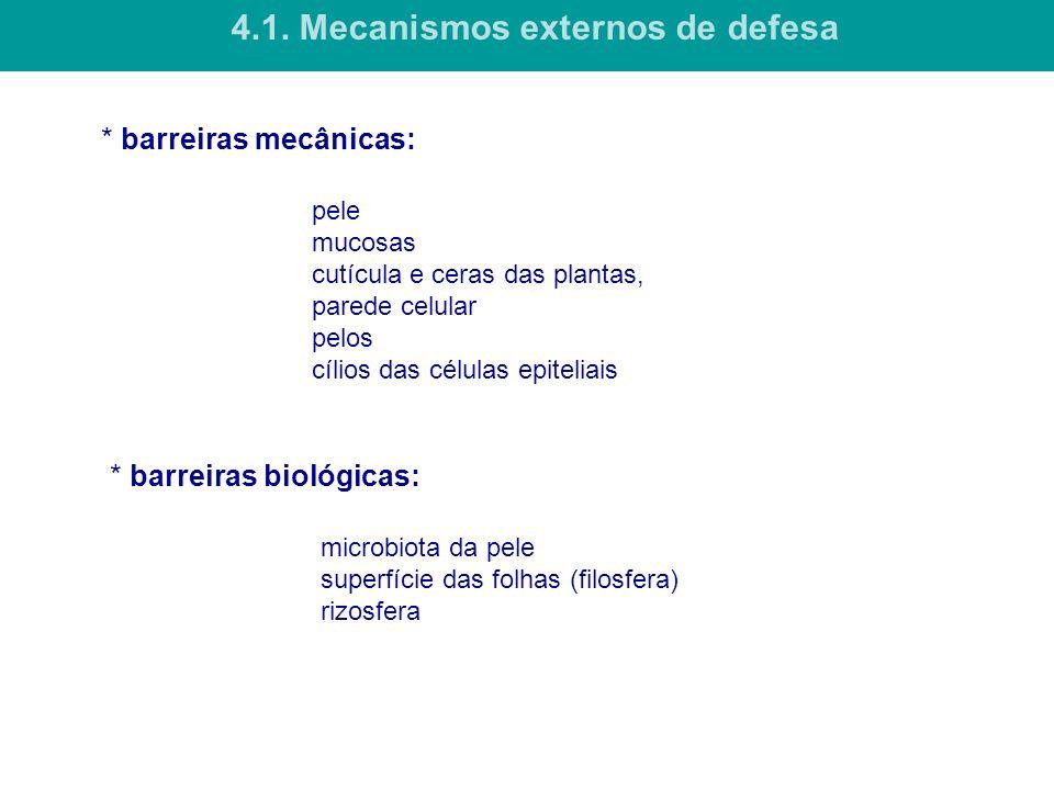 4.1. Mecanismos externos de defesa