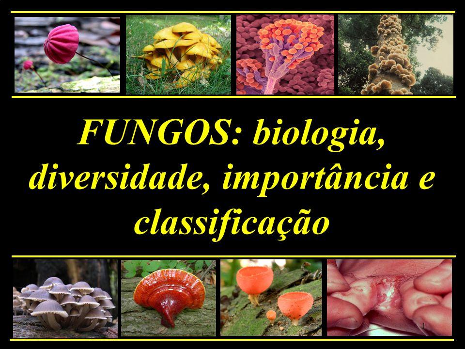 FUNGOS: biologia, diversidade, importância e classificação