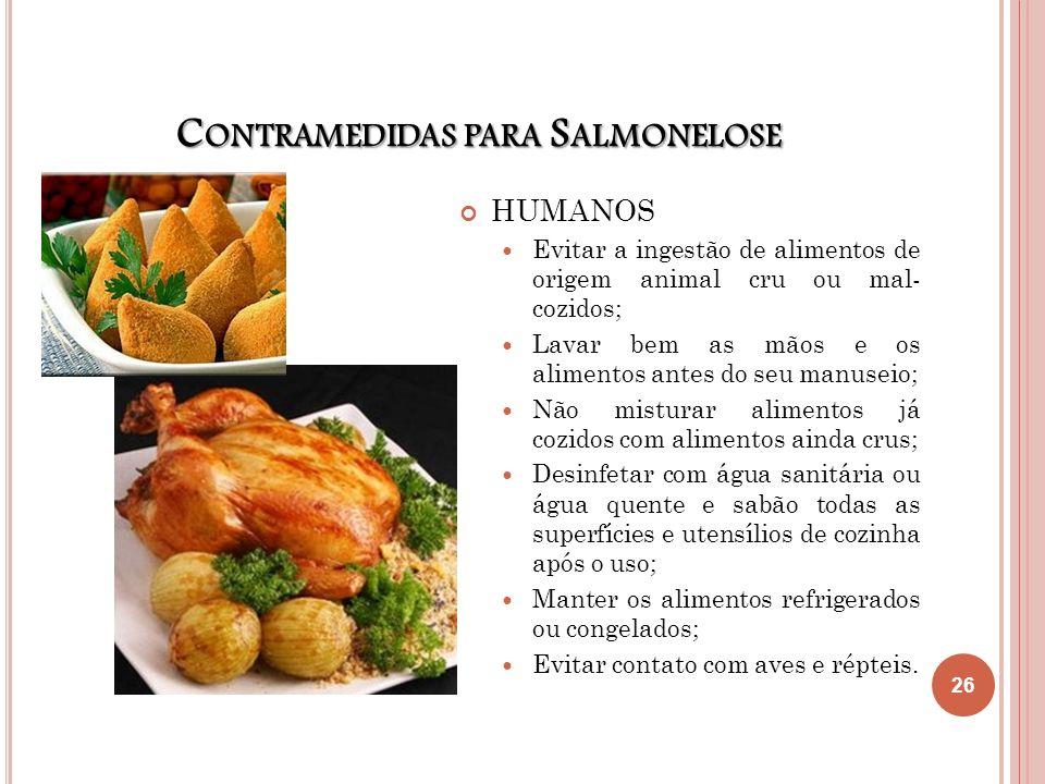 Contramedidas para Salmonelose