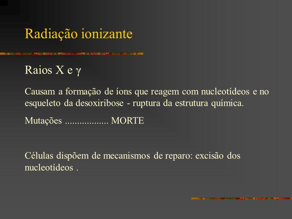 Radiação ionizante Raios X e γ