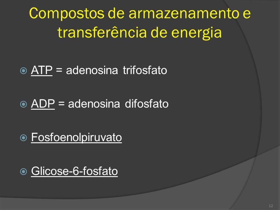 Compostos de armazenamento e transferência de energia