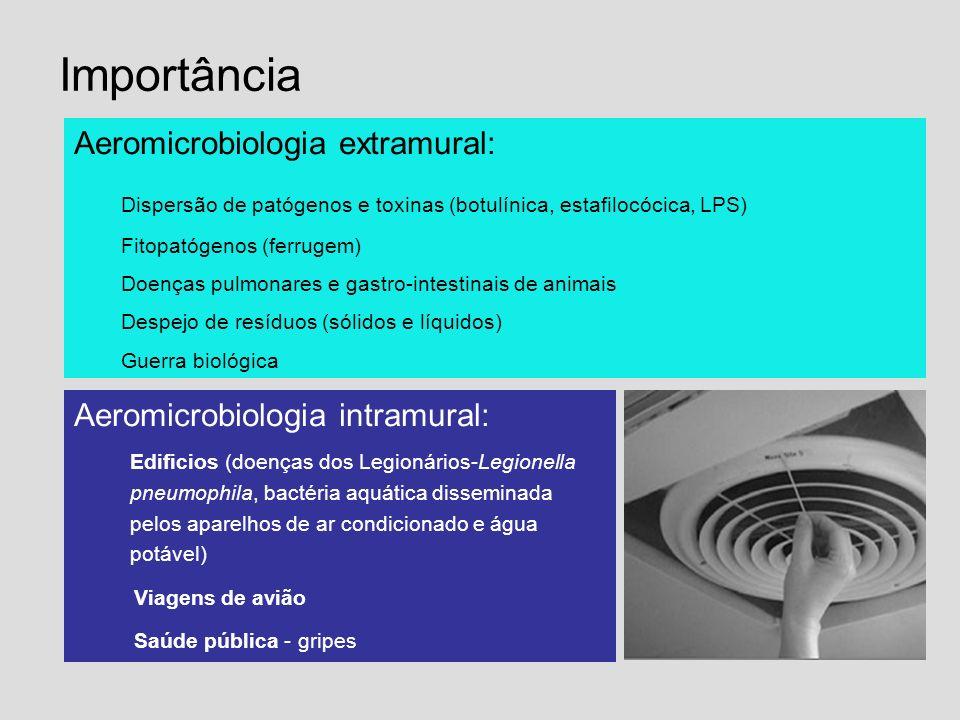 Importância Aeromicrobiologia extramural:
