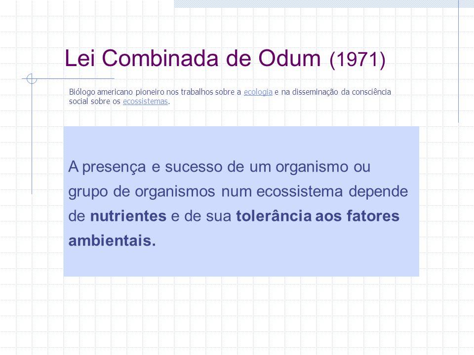 Lei Combinada de Odum (1971)