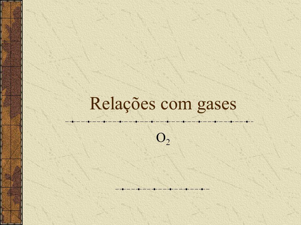 Relações com gases O2