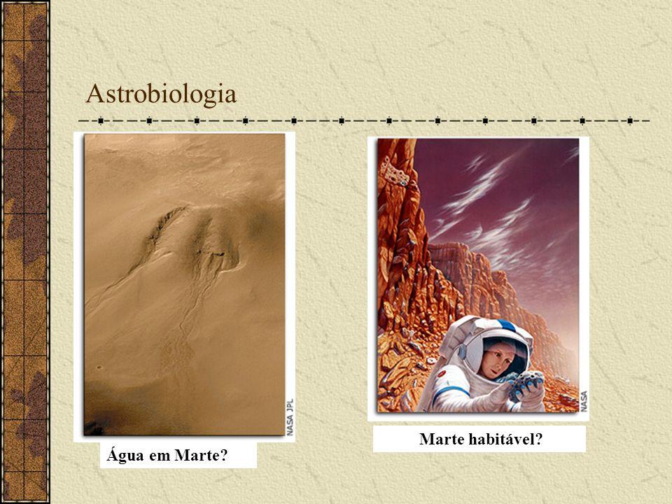 Astrobiologia Marte habitável Água em Marte
