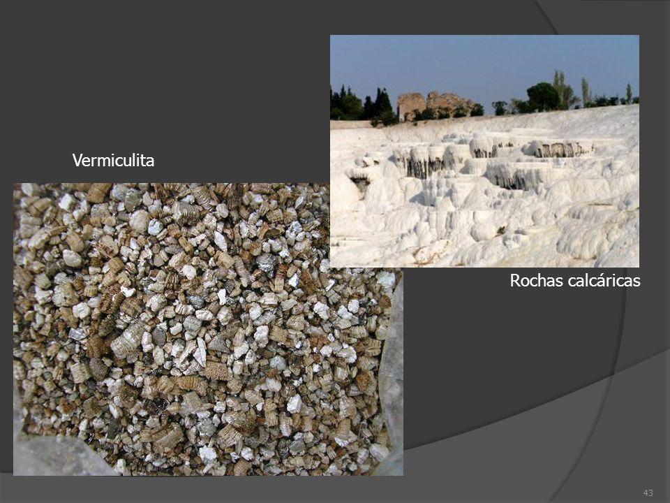 Vermiculita Rochas calcáricas
