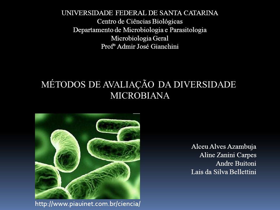MÉTODOS DE AVALIAÇÃO DA DIVERSIDADE MICROBIANA