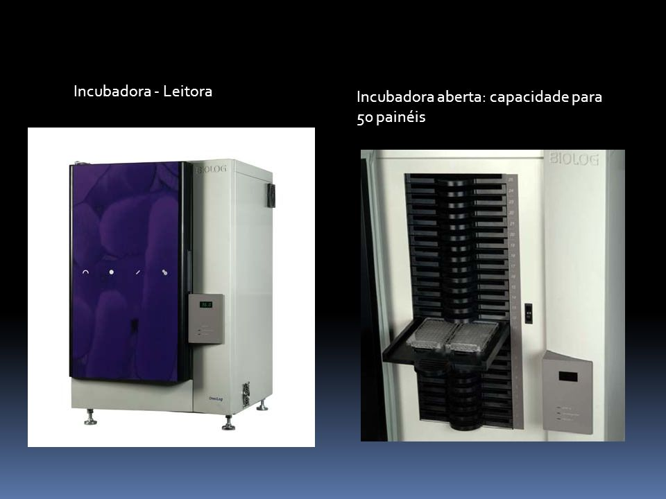 Incubadora - Leitora Incubadora aberta: capacidade para 50 painéis
