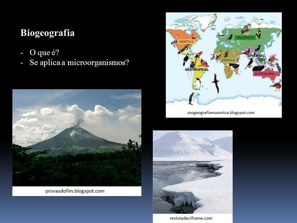 Biogeografia O que é Se aplica a microorganismos