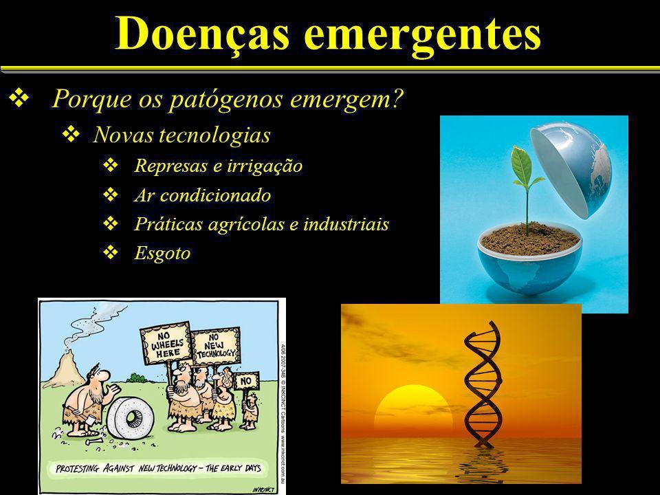 Doenças emergentes Porque os patógenos emergem Novas tecnologias