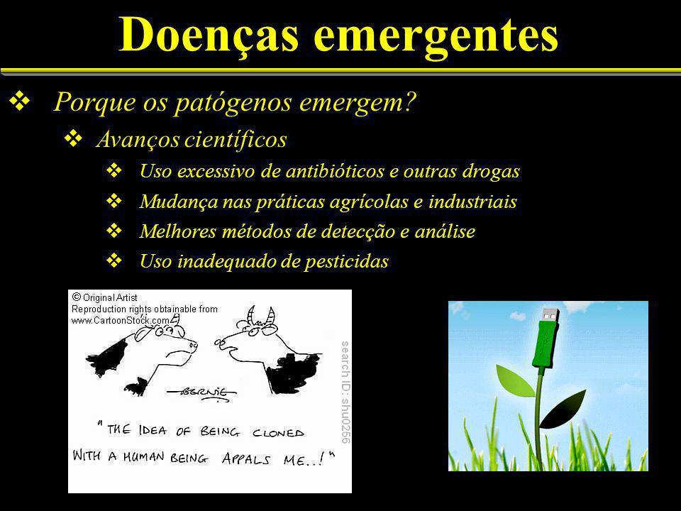 Doenças emergentes Porque os patógenos emergem Avanços científicos