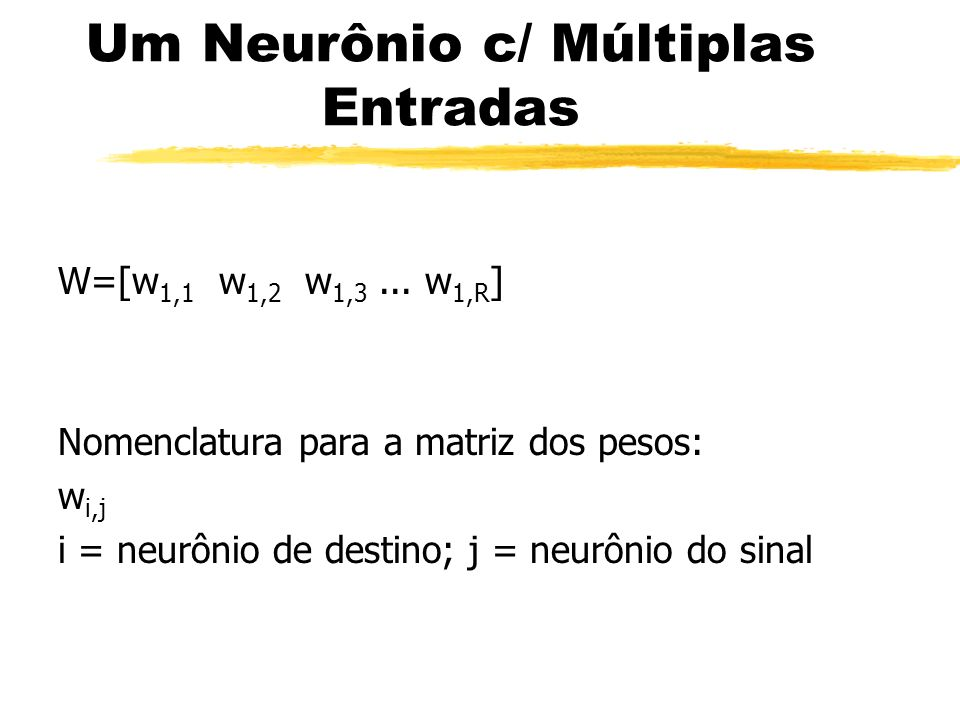 Um Neurônio c/ Múltiplas Entradas