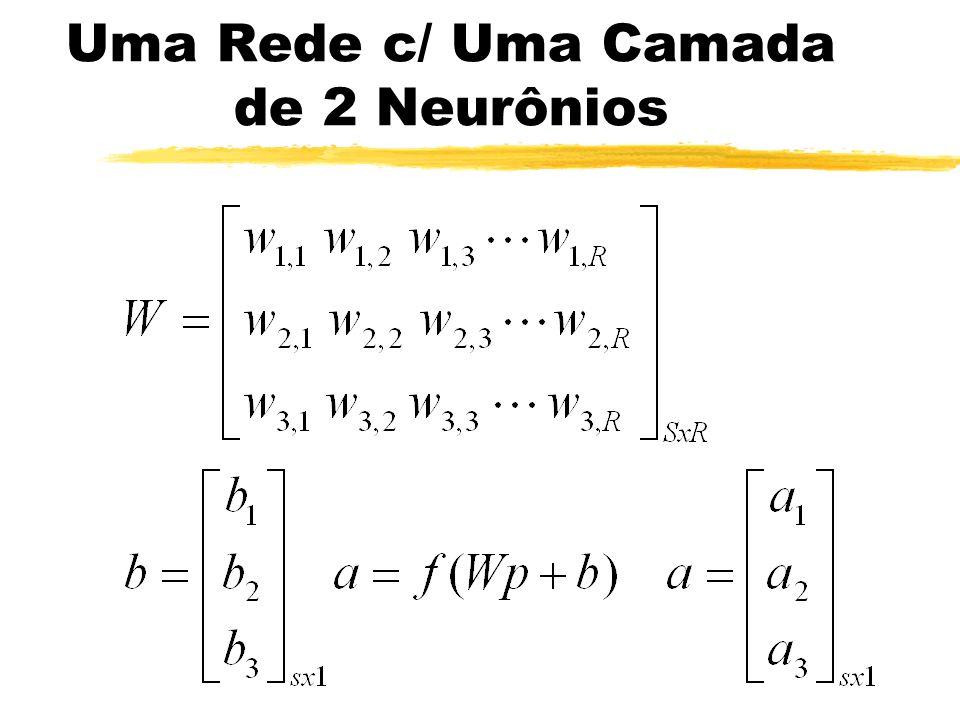 Uma Rede c/ Uma Camada de 2 Neurônios