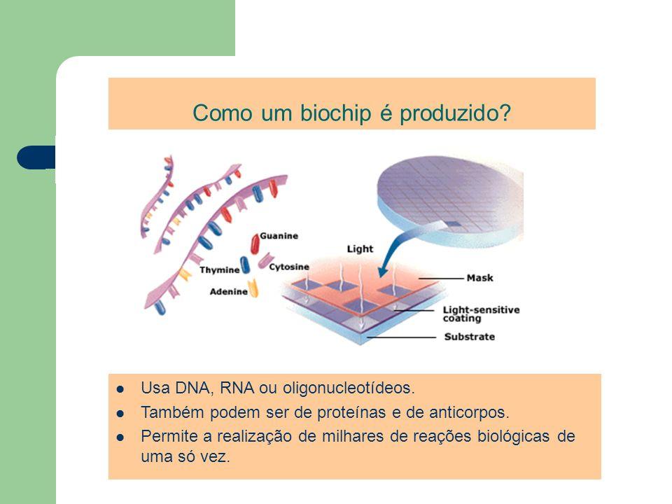 Como um biochip é produzido