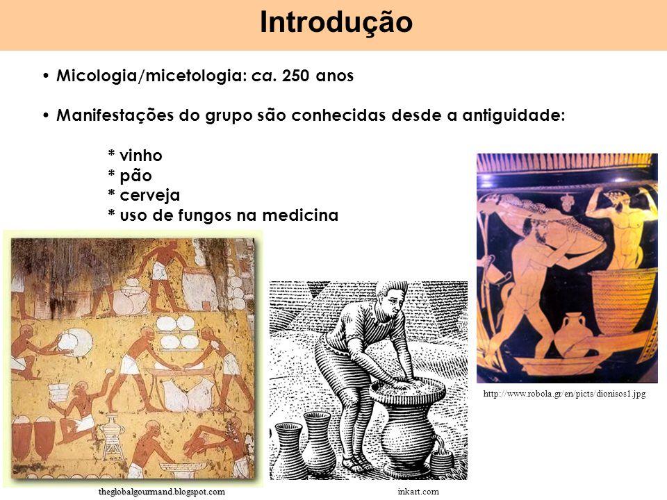 Introdução Micologia/micetologia: ca. 250 anos