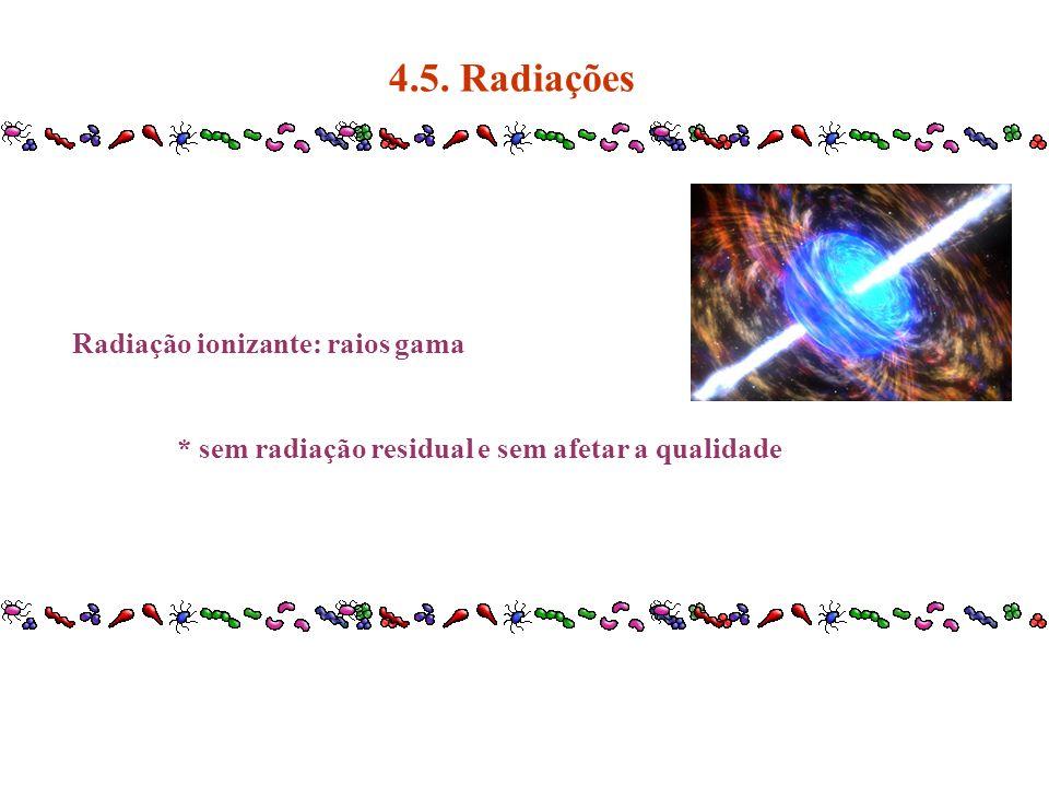 4.5. Radiações Radiação ionizante: raios gama