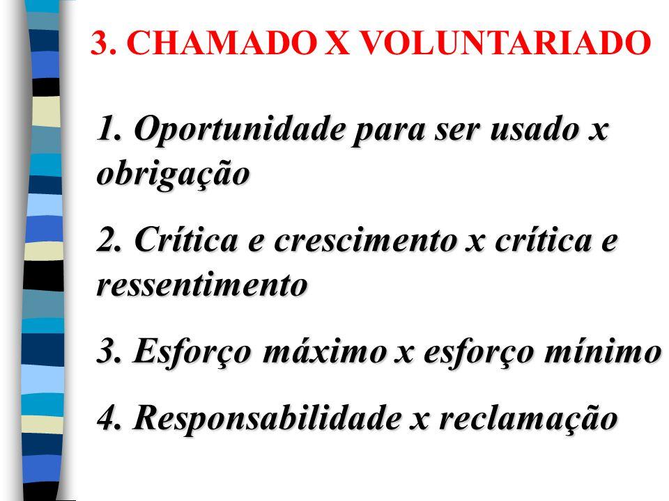 1. Oportunidade para ser usado x obrigação