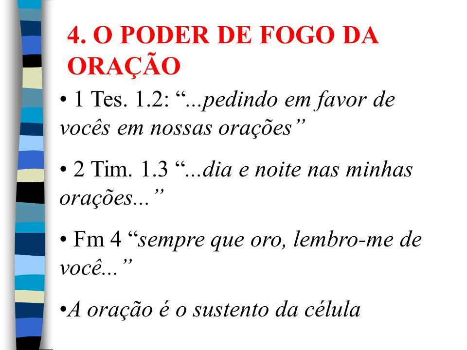 4. O PODER DE FOGO DA ORAÇÃO