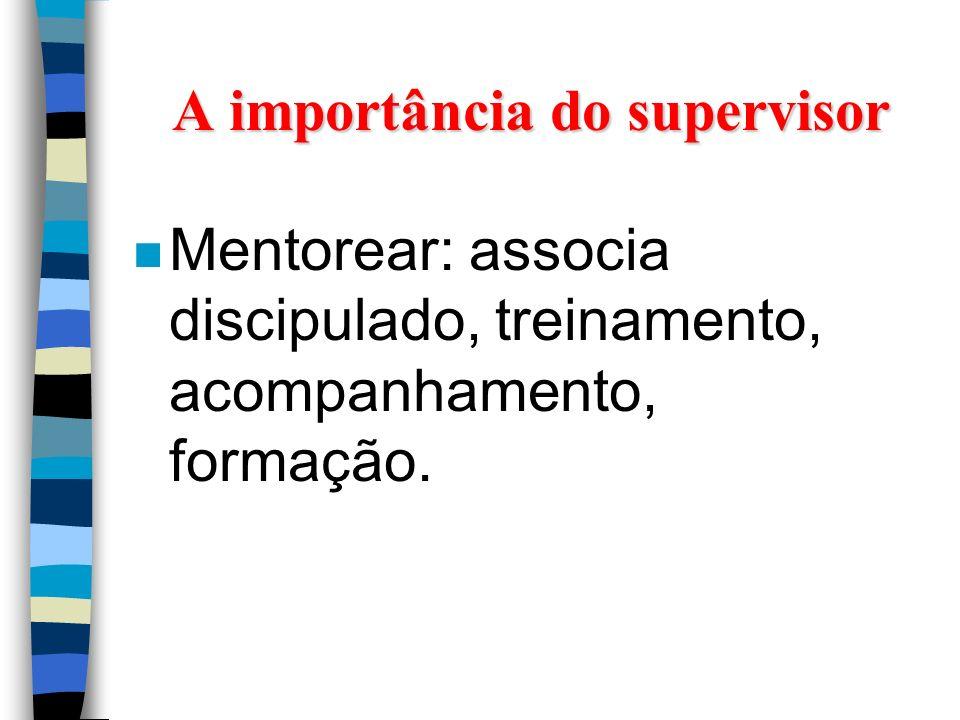A importância do supervisor