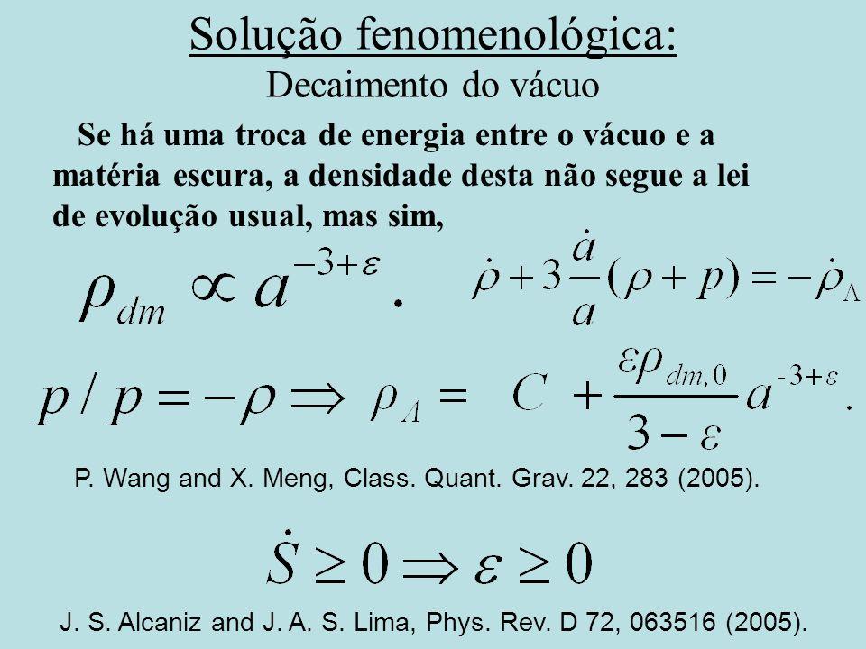 Solução fenomenológica: