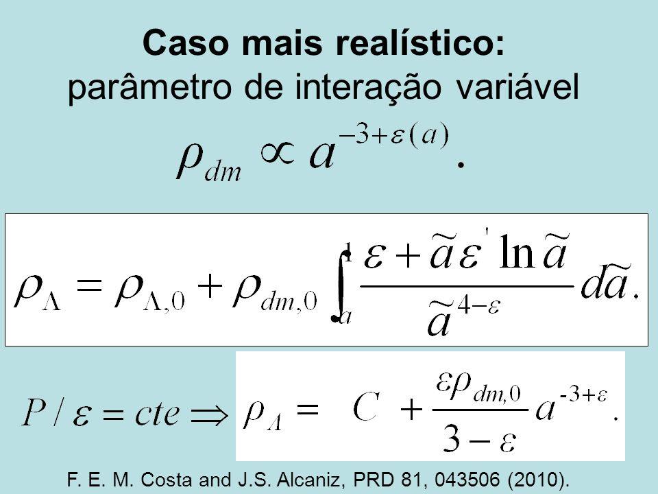 Caso mais realístico: parâmetro de interação variável