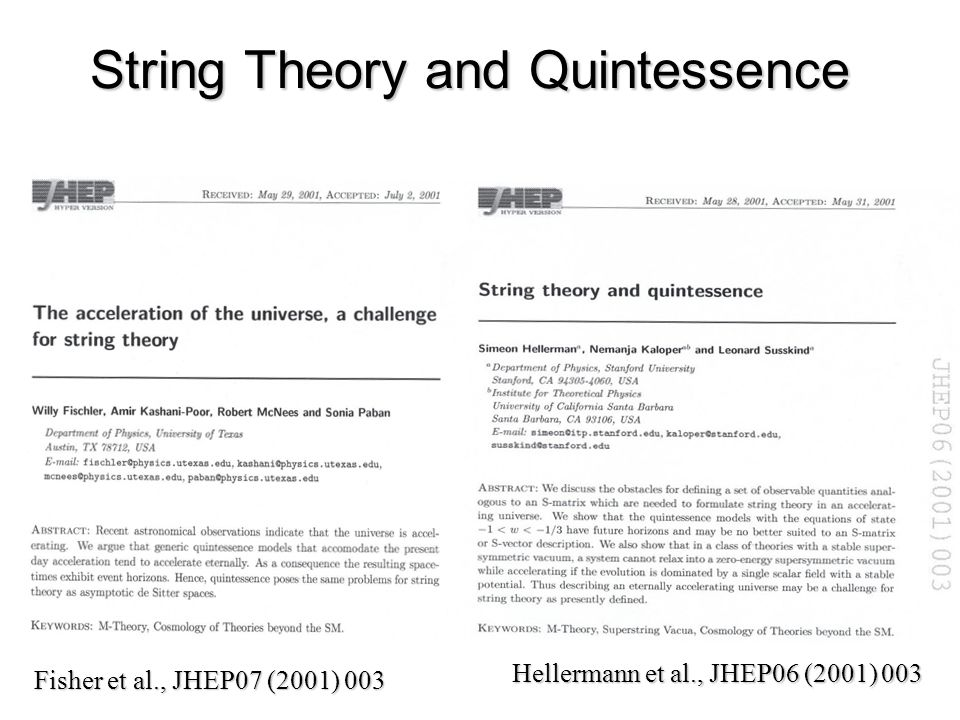 String Theory and Quintessence