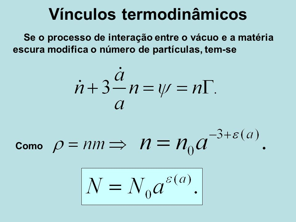Vínculos termodinâmicos
