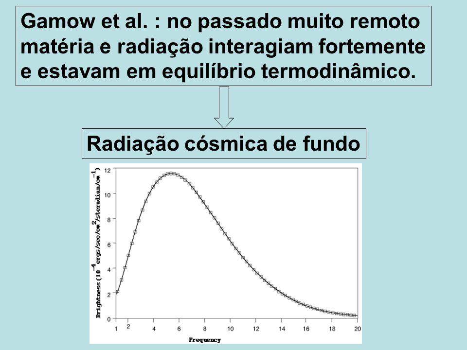 Gamow et al. : no passado muito remoto