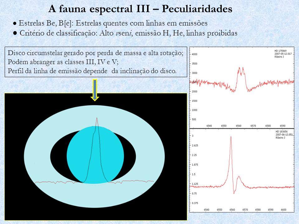 A fauna espectral III – Peculiaridades