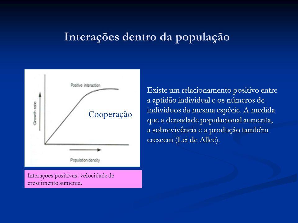 Interações dentro da população