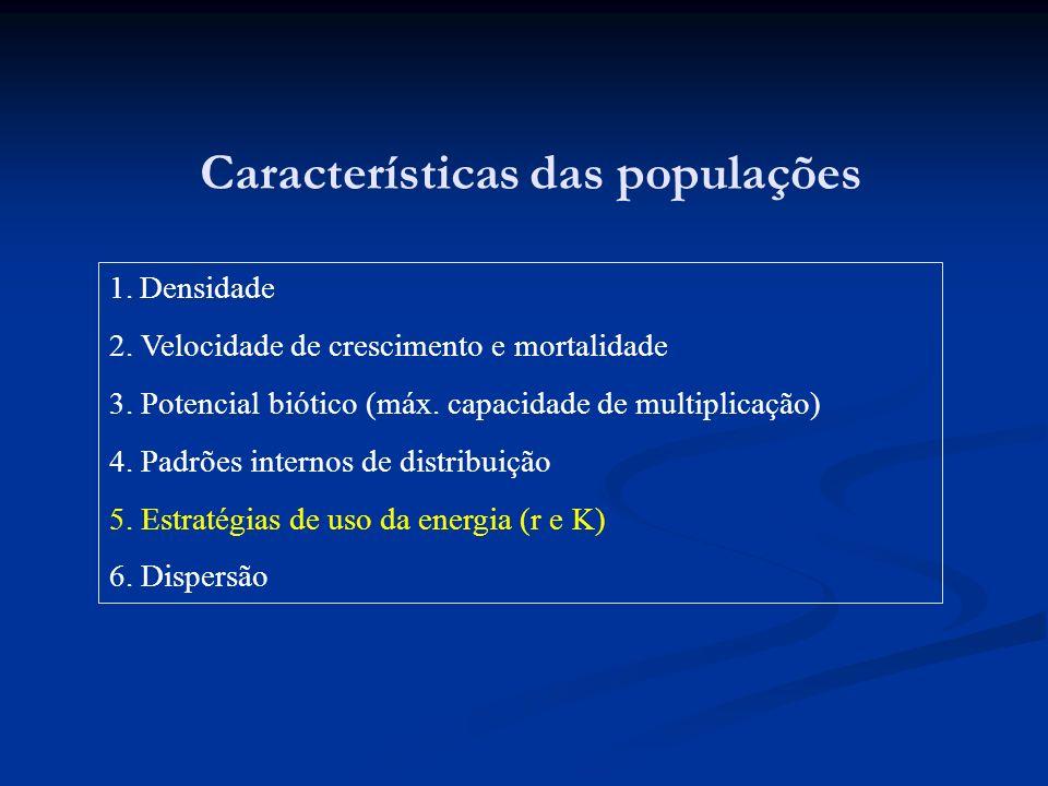 Características das populações