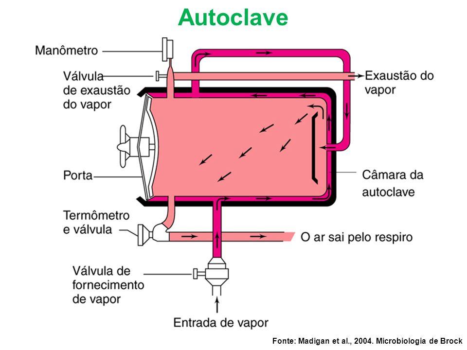 Autoclave Fonte: Madigan et al., 2004. Microbiologia de Brock
