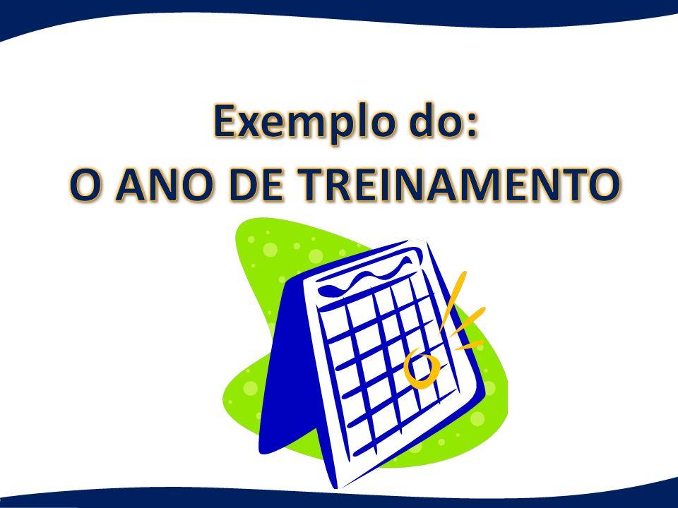 Exemplo do: O ANO DE TREINAMENTO