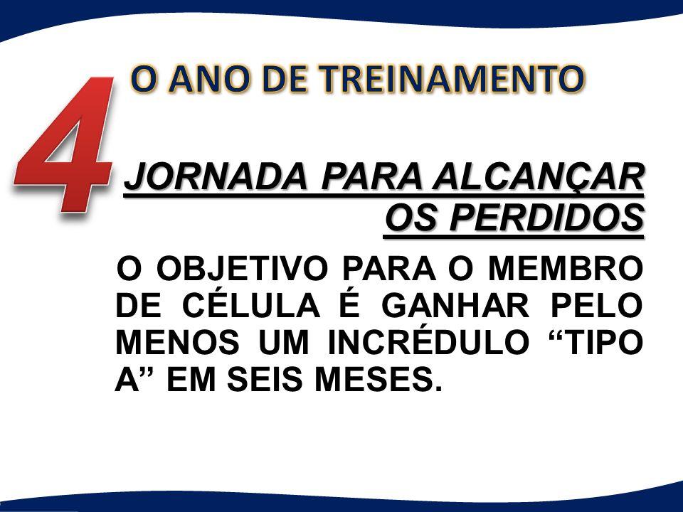 4 O ANO DE TREINAMENTO JORNADA PARA ALCANÇAR OS PERDIDOS