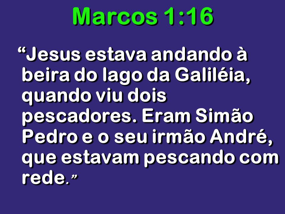 Marcos 1:16