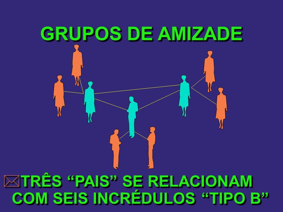 GRUPOS DE AMIZADE TRÊS PAIS SE RELACIONAM COM SEIS INCRÉDULOS TIPO B