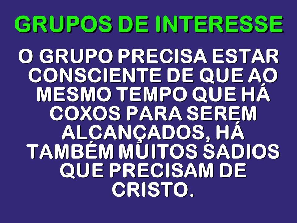 GRUPOS DE INTERESSE
